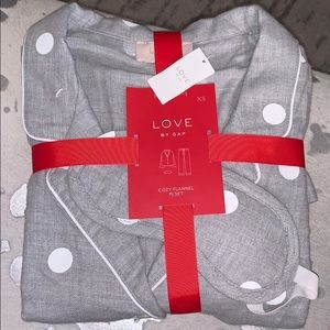 Gap cozy flannel pj set
